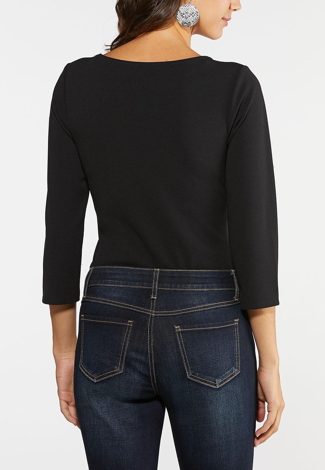 Plus Size Ponte Bodysuit (Item #44008322)