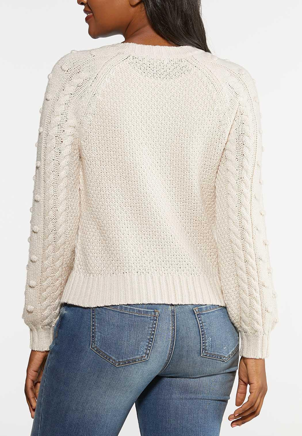 Plus Size Cable Dot Sweater (Item #44008609)