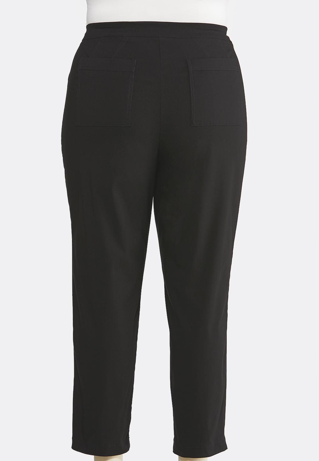 Plus Size Tie Waist Utility Pants (Item #44008973)