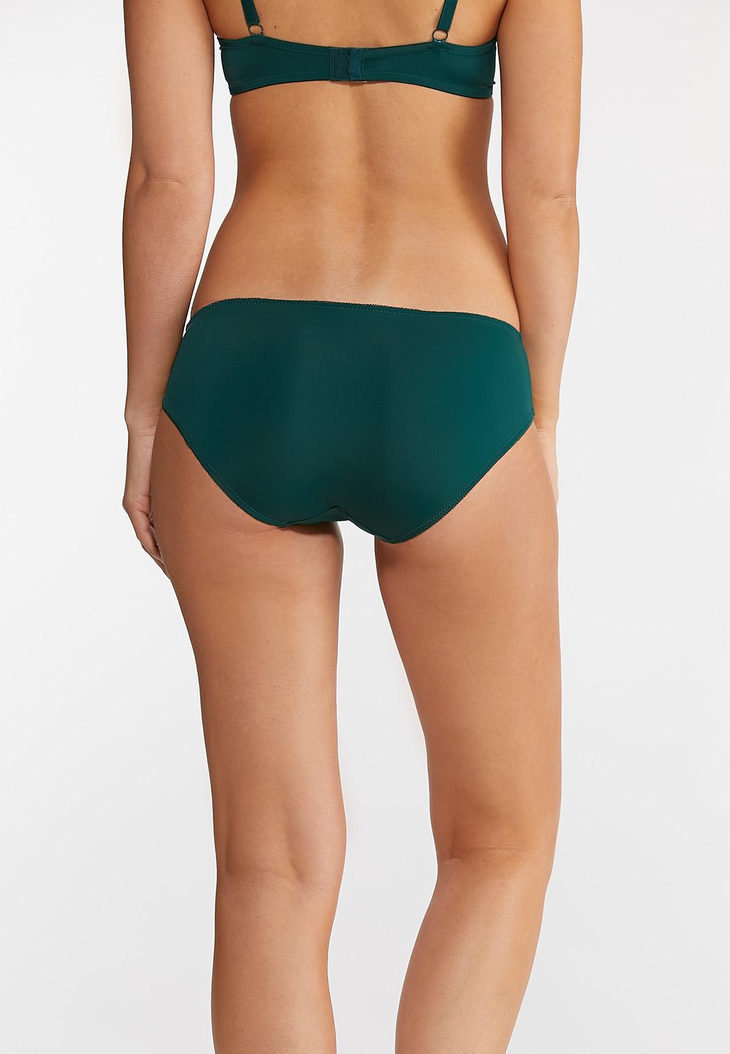 Plus Size Navy And Green Panty Set (Item #44010816)