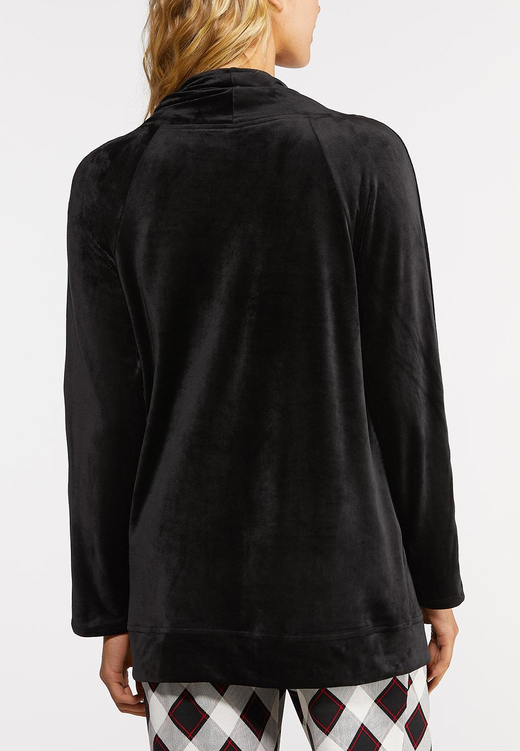 Micro Fleece Lounge Cardigan (Item #44013196)