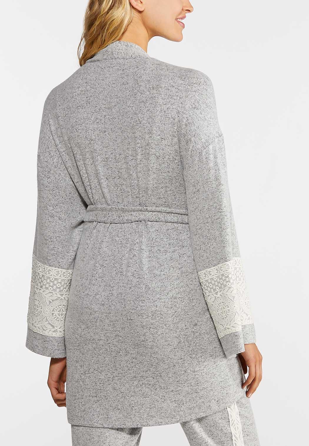 Lace Sleeve Lounge Cardigan (Item #44013269)
