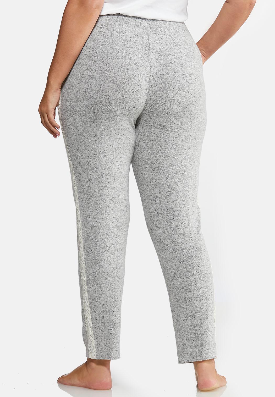 Plus Size Lace Trim Sleep Pants (Item #44013339)