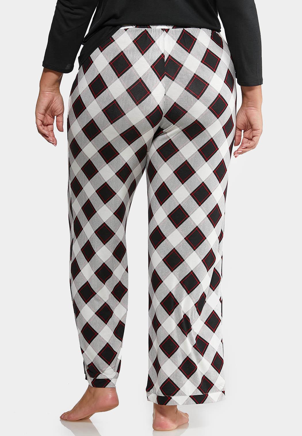 Plus Size Plaid Lounge Pants (Item #44013446)