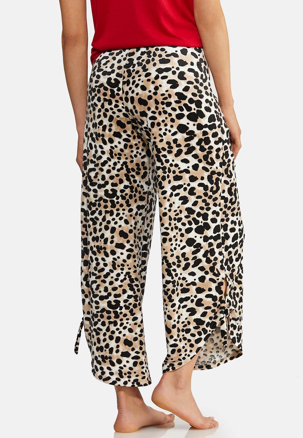 Leopard Fleece Lounge Pants (Item #44013692)
