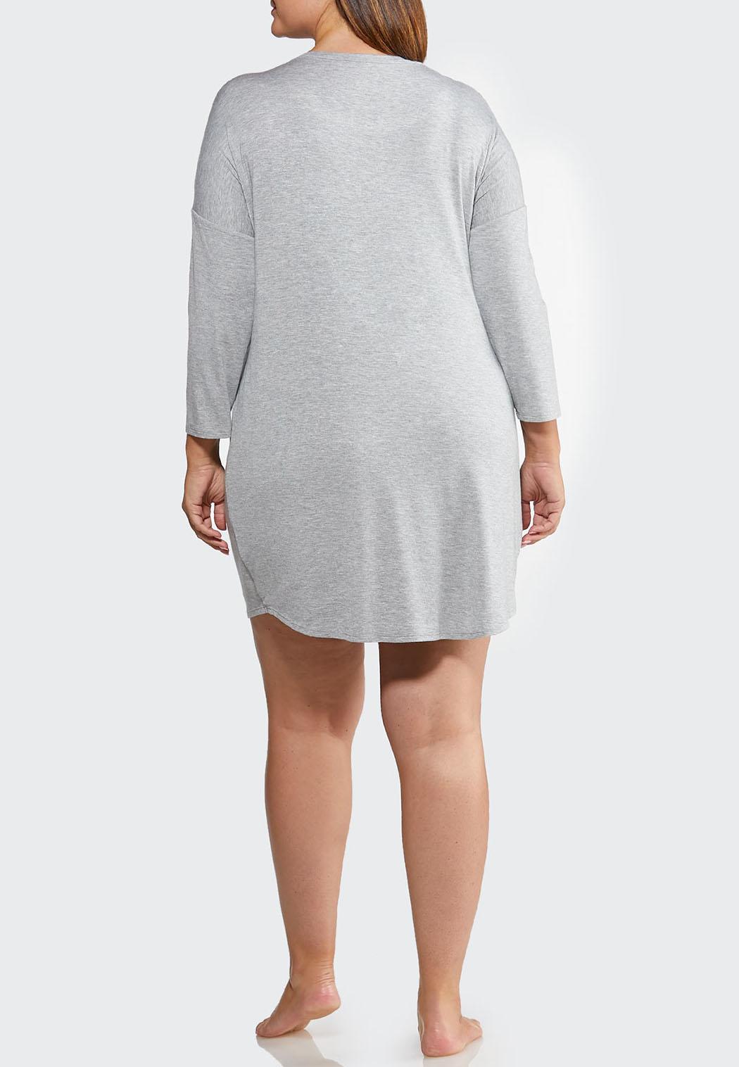 Plus Size Glitter Moon Sleep Shirt (Item #44013925)