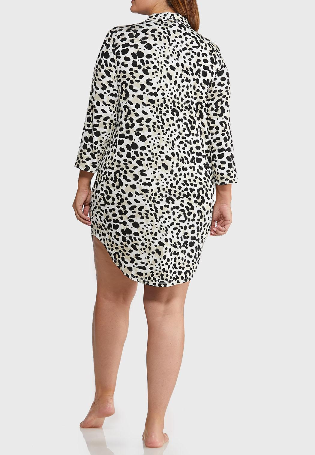 Plus Size Leopard Sleep Shirt (Item #44014000)