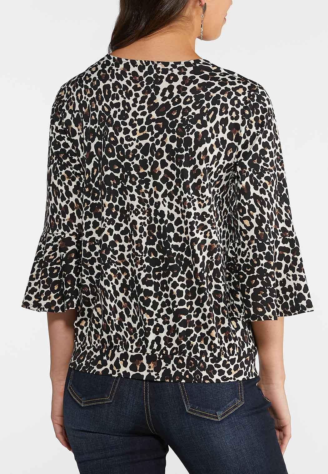 Leopard Flutter Sleeve Top (Item #44014290)