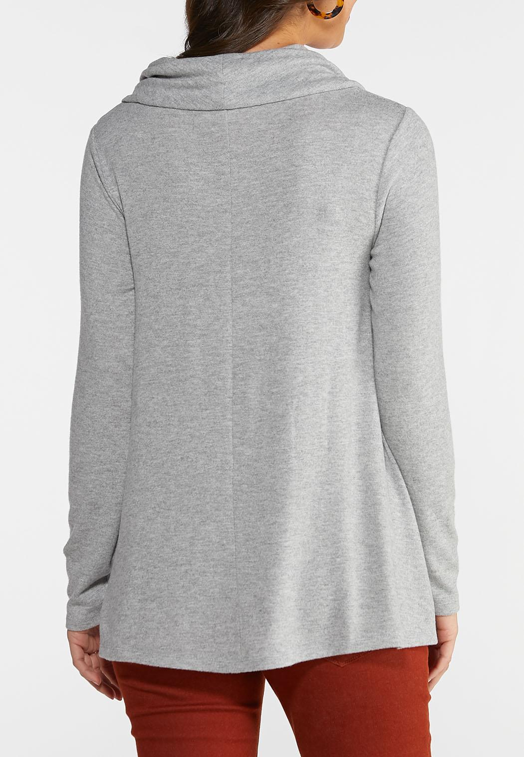 Plus Size Cowl Neck Tunic Top (Item #44015103)