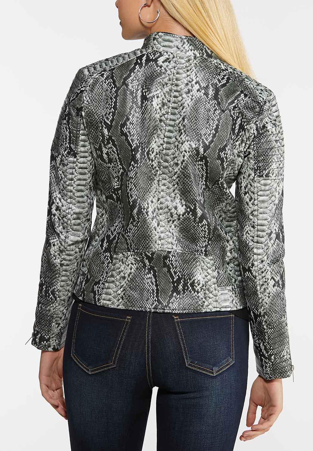 Faux Snake Moto Jacket (Item #44015139)