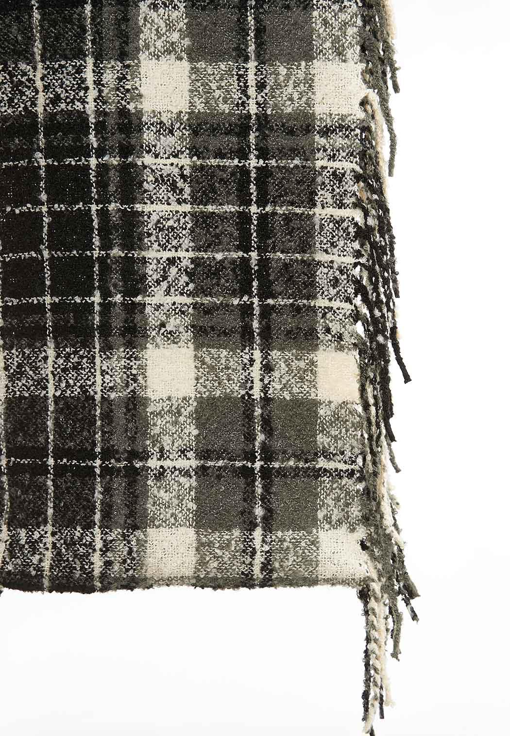 Black White Plaid Infinity Scarf (Item #44017251)