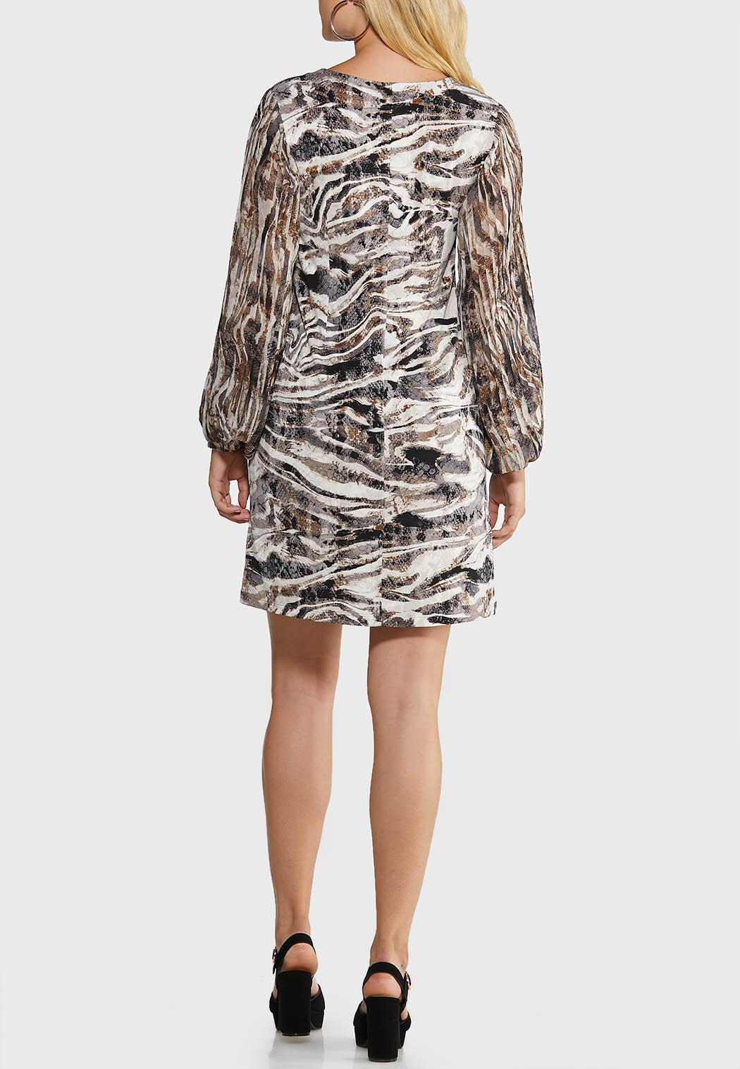 Plus Size Zebra Shift Dress (Item #44017318)