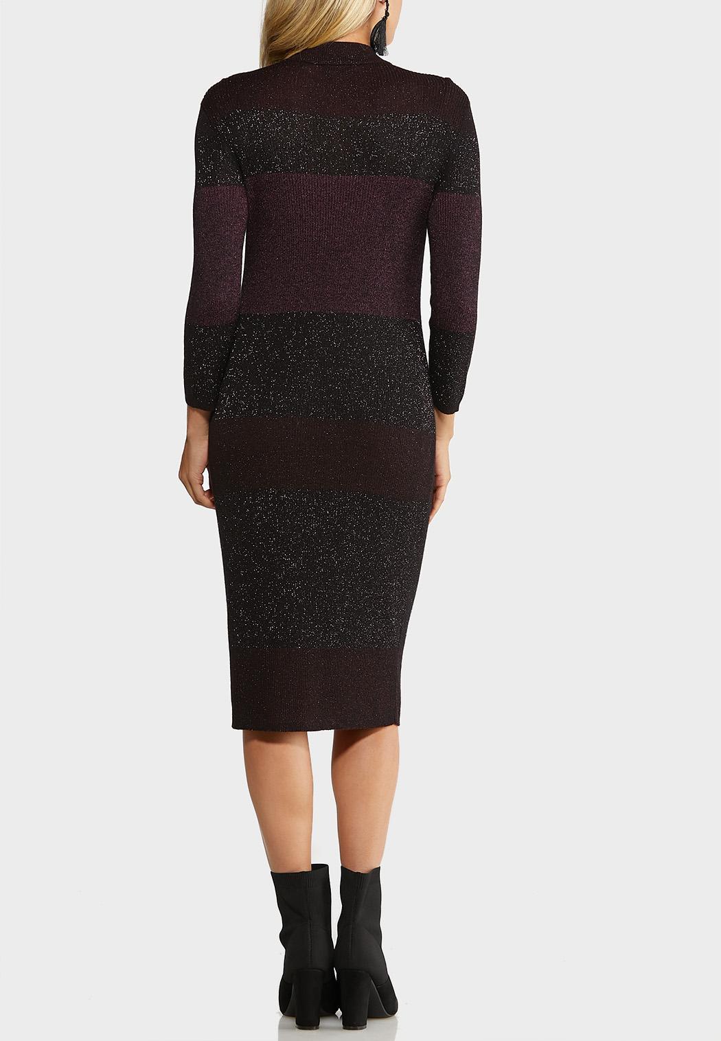 Plus Size Colorblock Sweater Dress (Item #44017735)