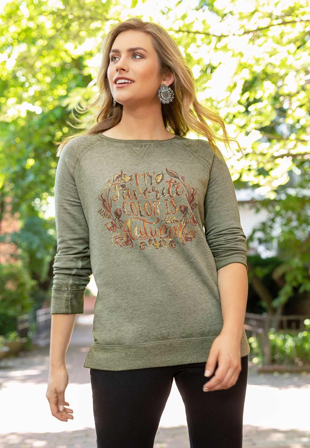 Plus Size Autumn Colors Top (Item #44017842)
