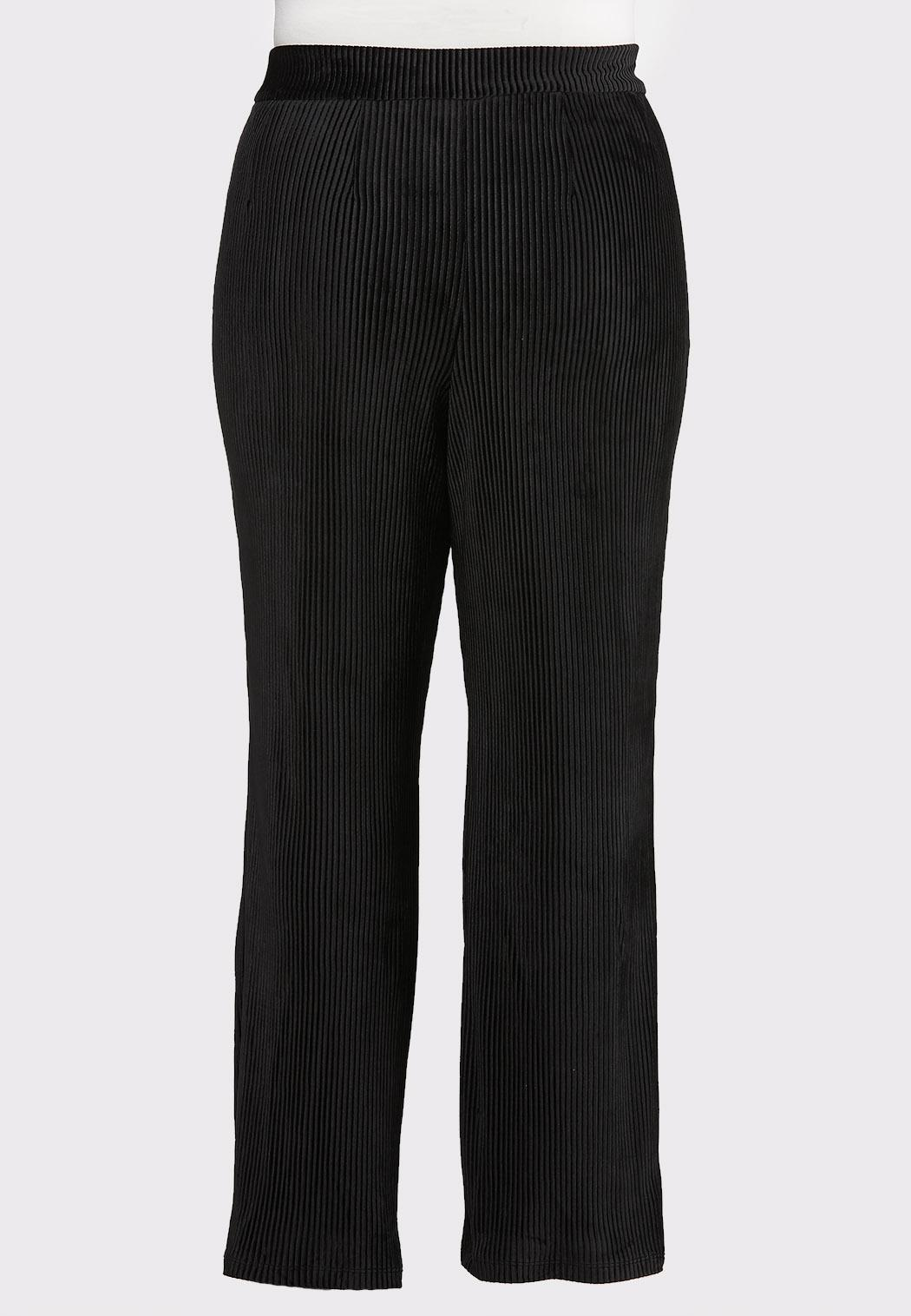 Plus Size Flare Leg Corduroy Pants (Item #44018715)