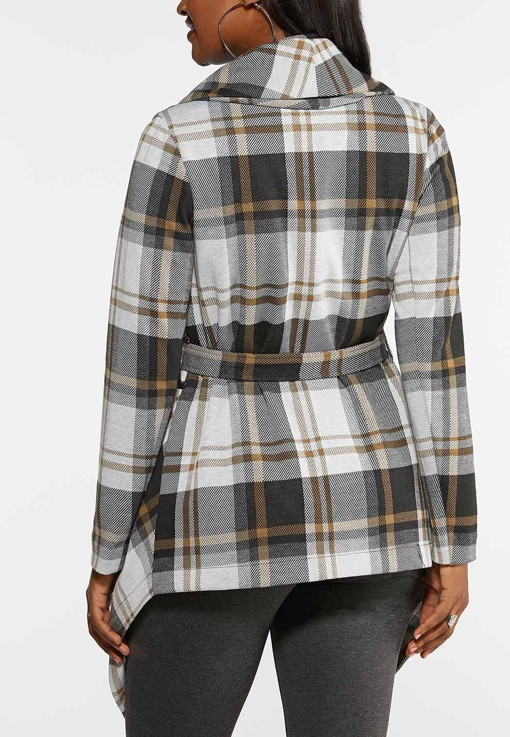 Belted Plaid Jacket (Item #44018725)