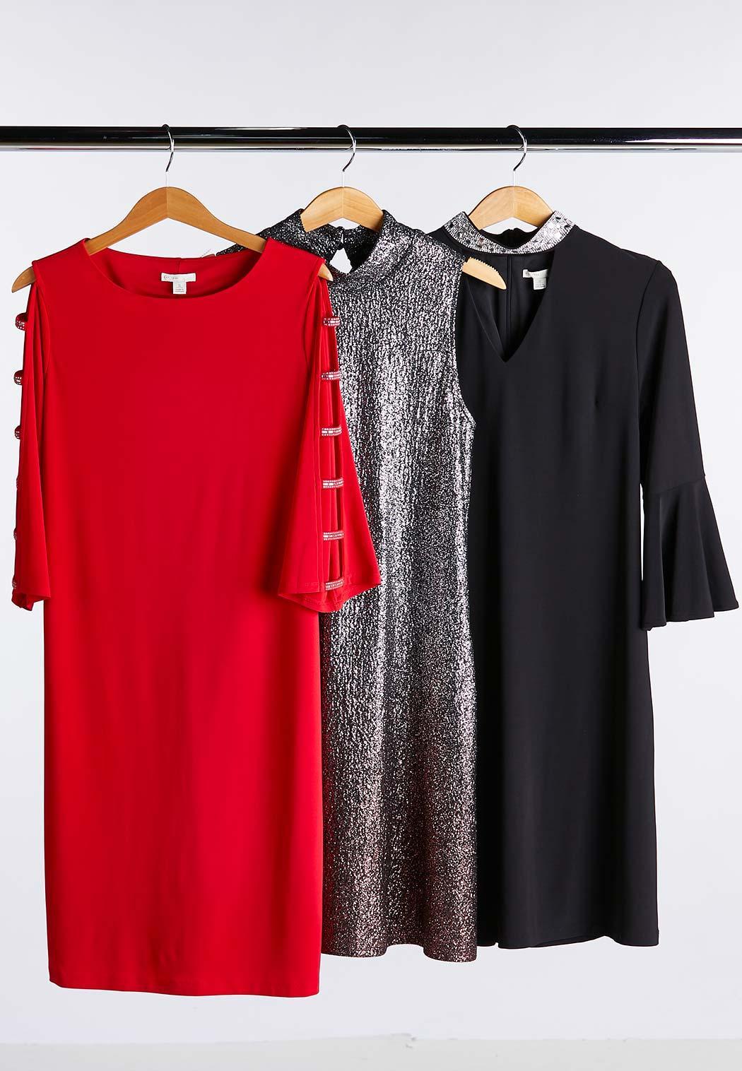 Rhinestone Ladder Sleeve Shift Dress (Item #44018760)