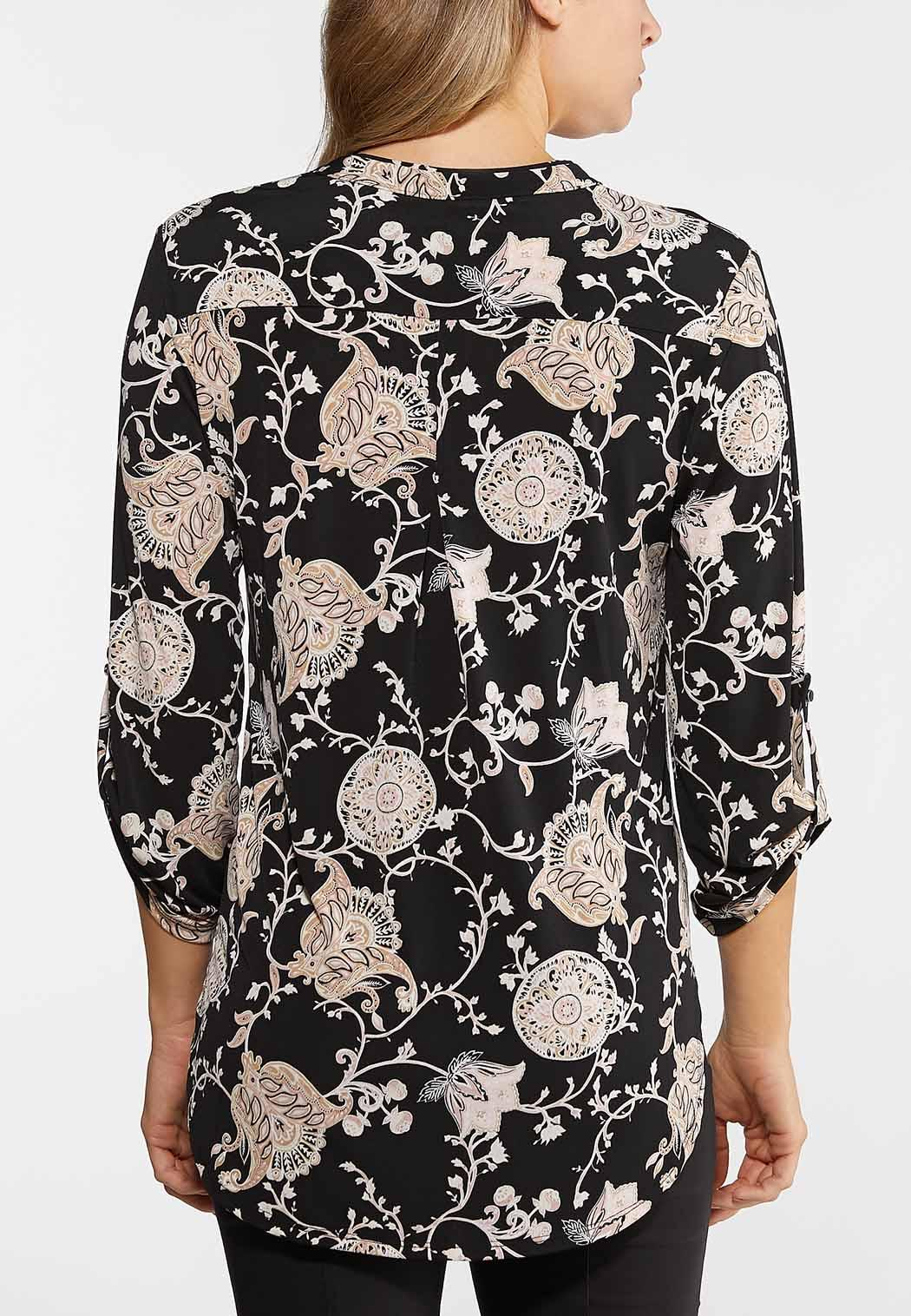 Plus Size Floral Paisley Top (Item #44019629)