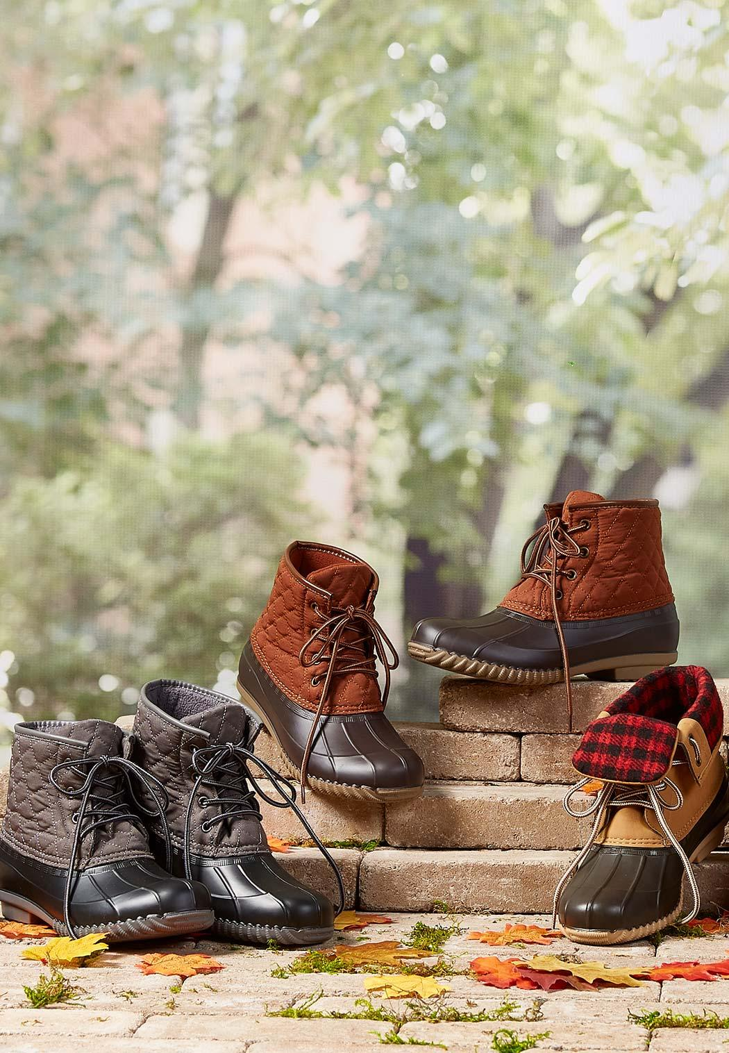 Quilted Duck Boots (Item #44020431)