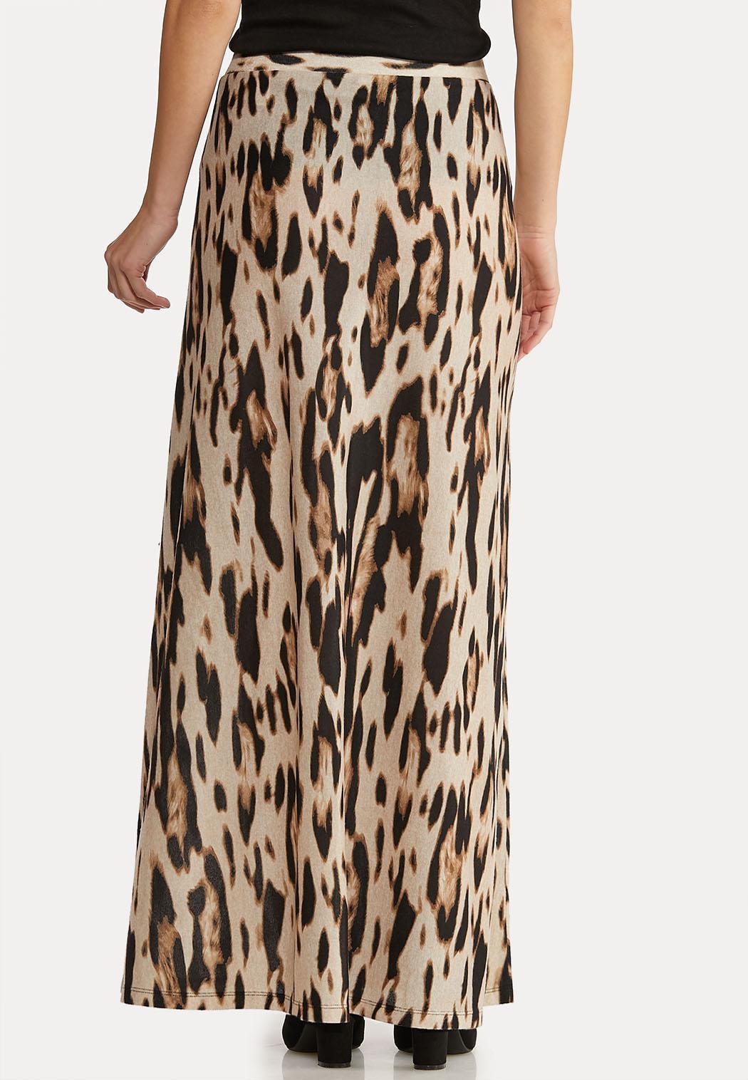 Leopard Maxi Print Skirt (Item #44021987)