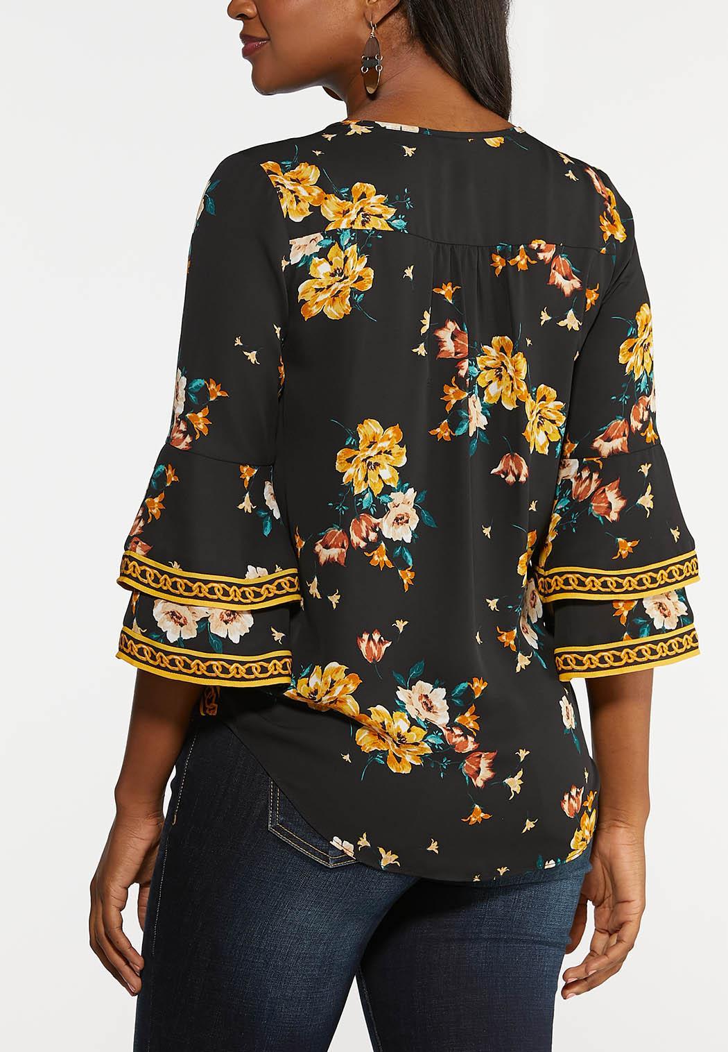 Floral Wrap Top (Item #44022095)