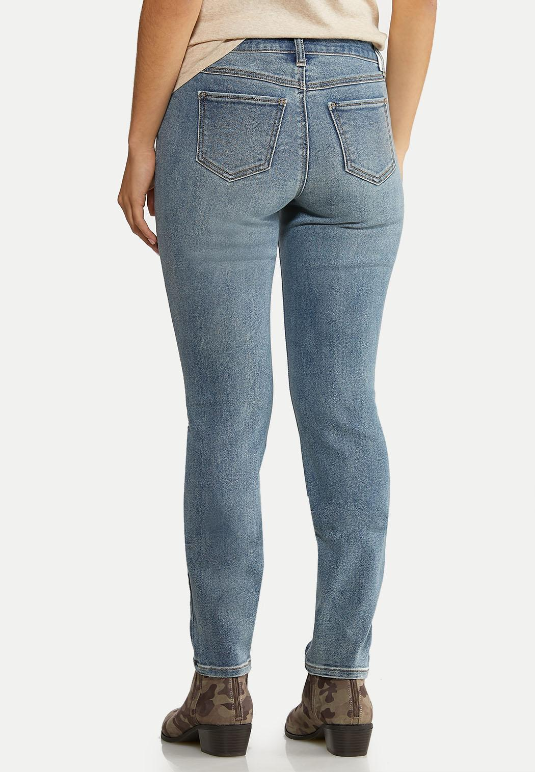 Distressed Buttonfly Jeans (Item #44023753)