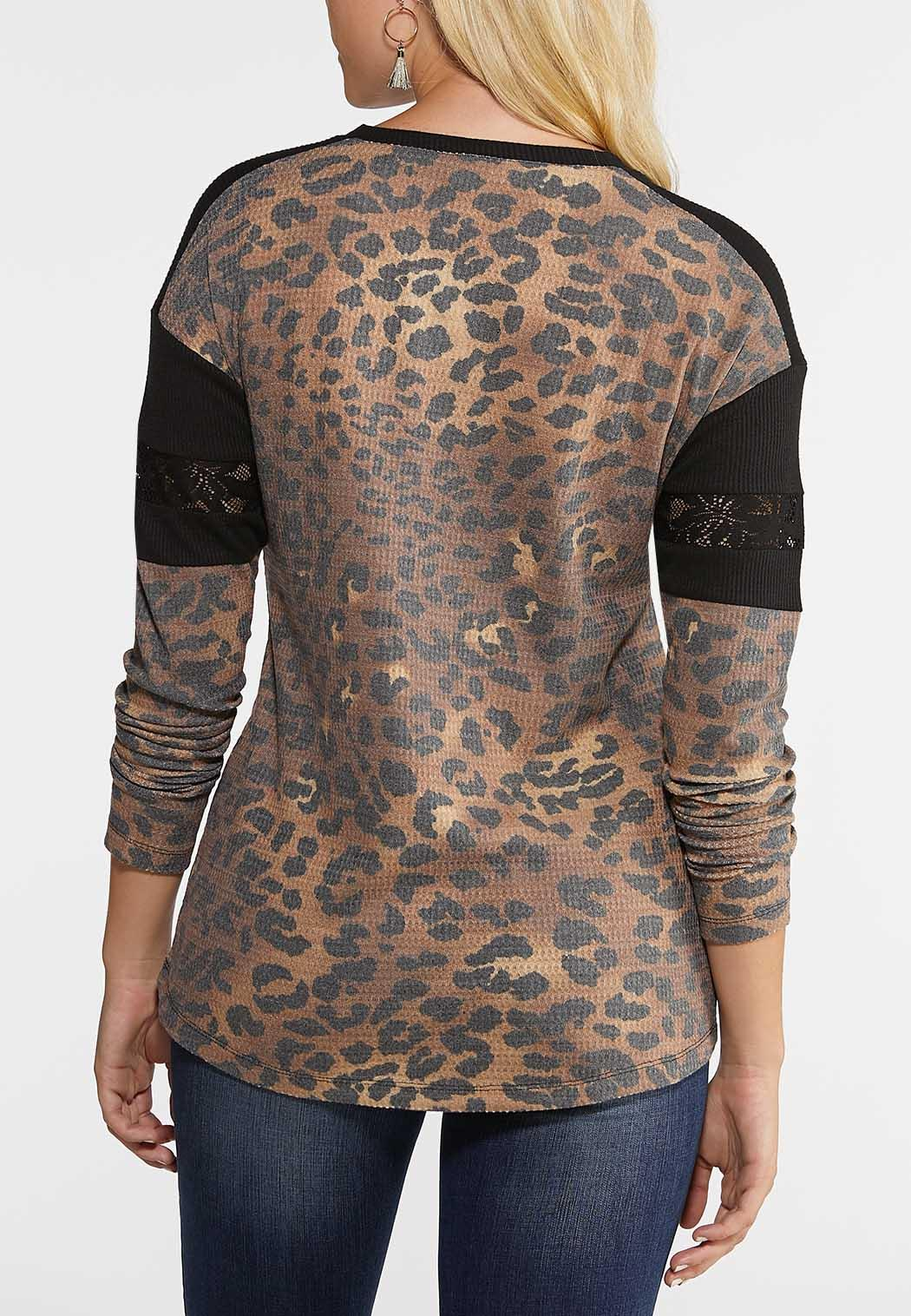 Leopard And Lace Thermal Top (Item #44024439)