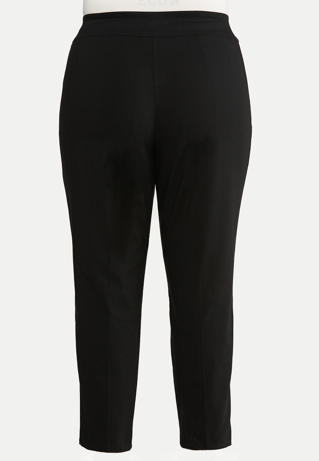 Plus Size Bling Ring Black Pants (Item #44025595)
