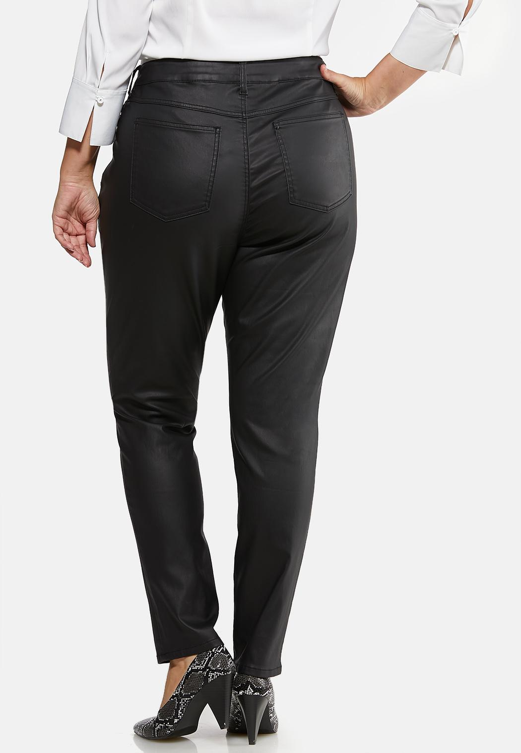 Plus Size Coated Skinny Jeans (Item #44025843)