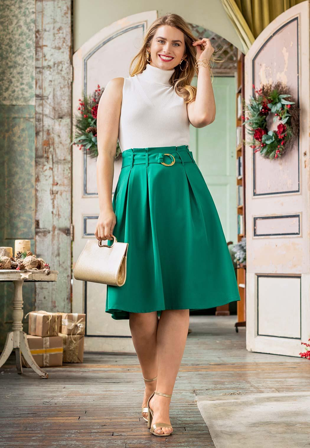Paper Bag Midi Skirt (Item #44026650)