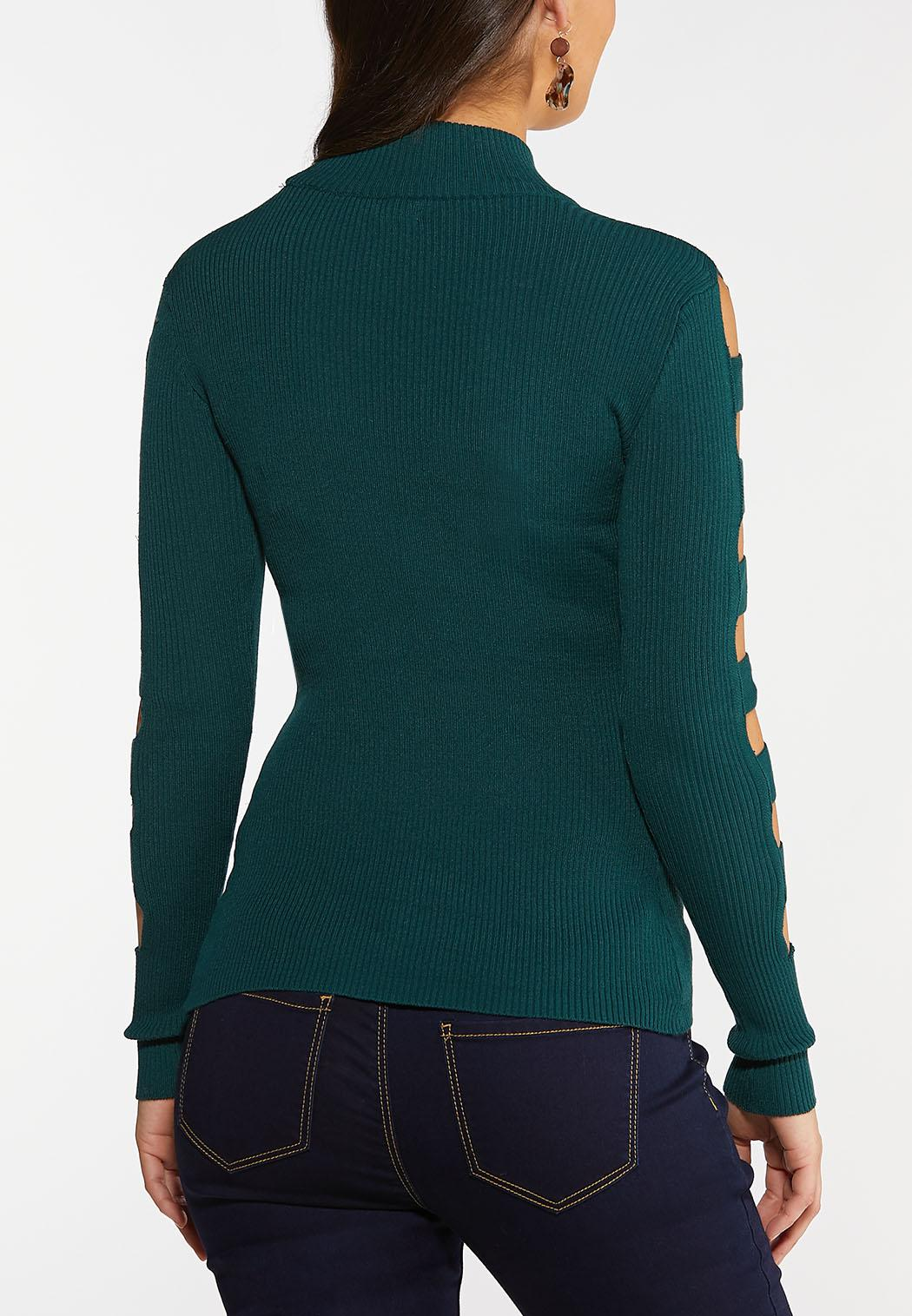 Ladder Sleeve Pullover Sweater (Item #44026899)