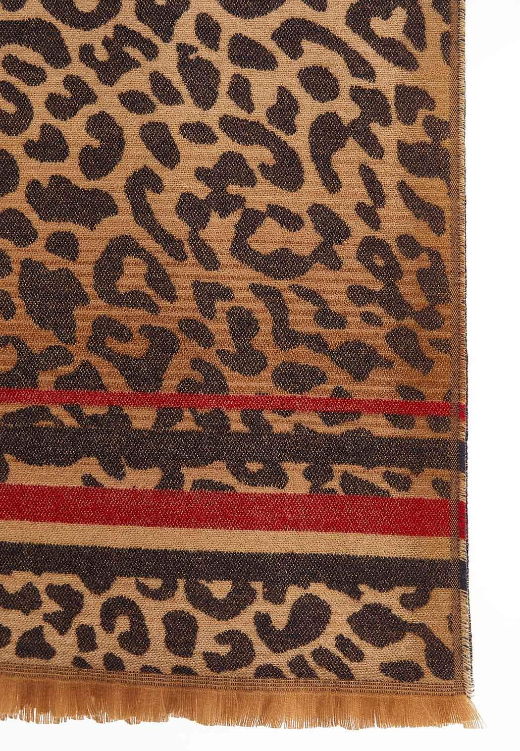 Animal Stripe Print Oblong Scarf (Item #44027438)