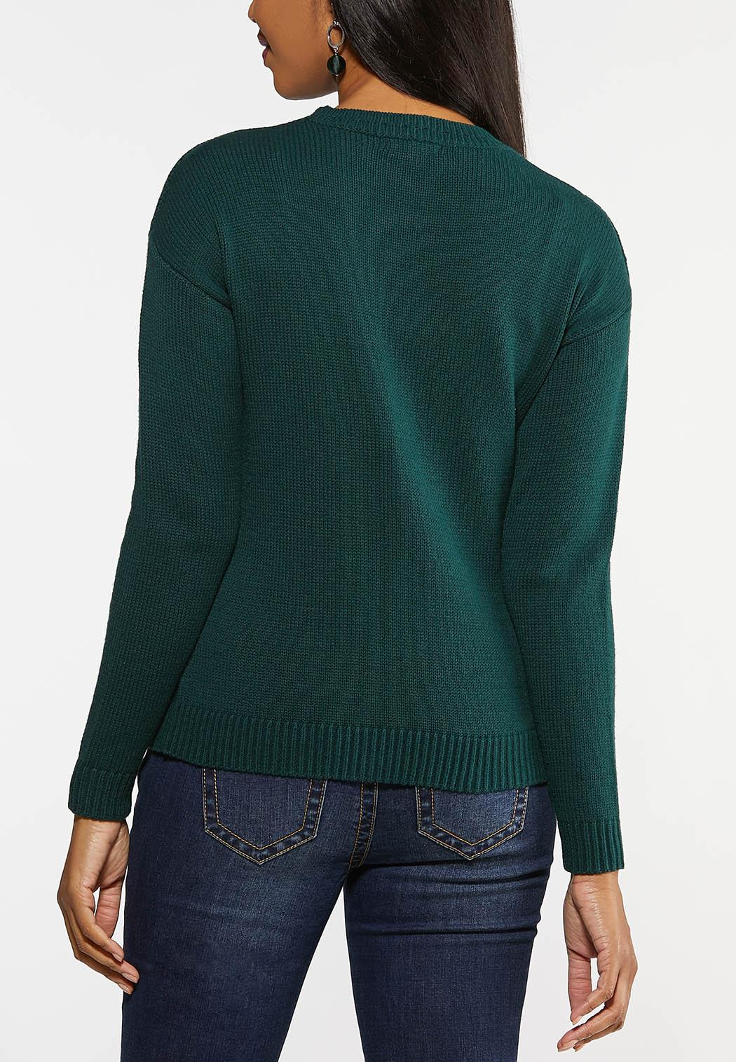 Green Cable Knit Sweater (Item #44027971)