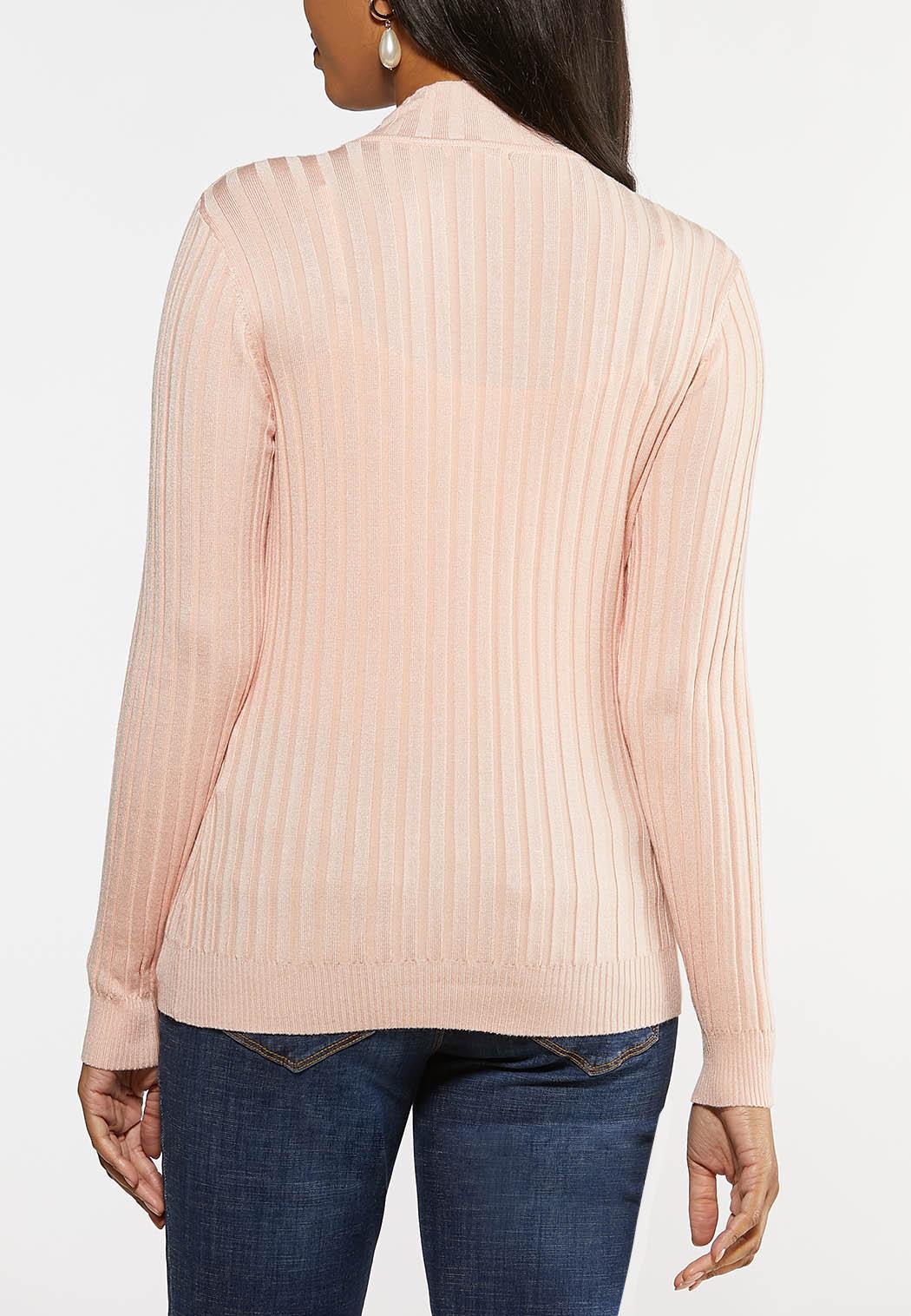 Plus Size Ribbed Mock Neck Sweater (Item #44028106)