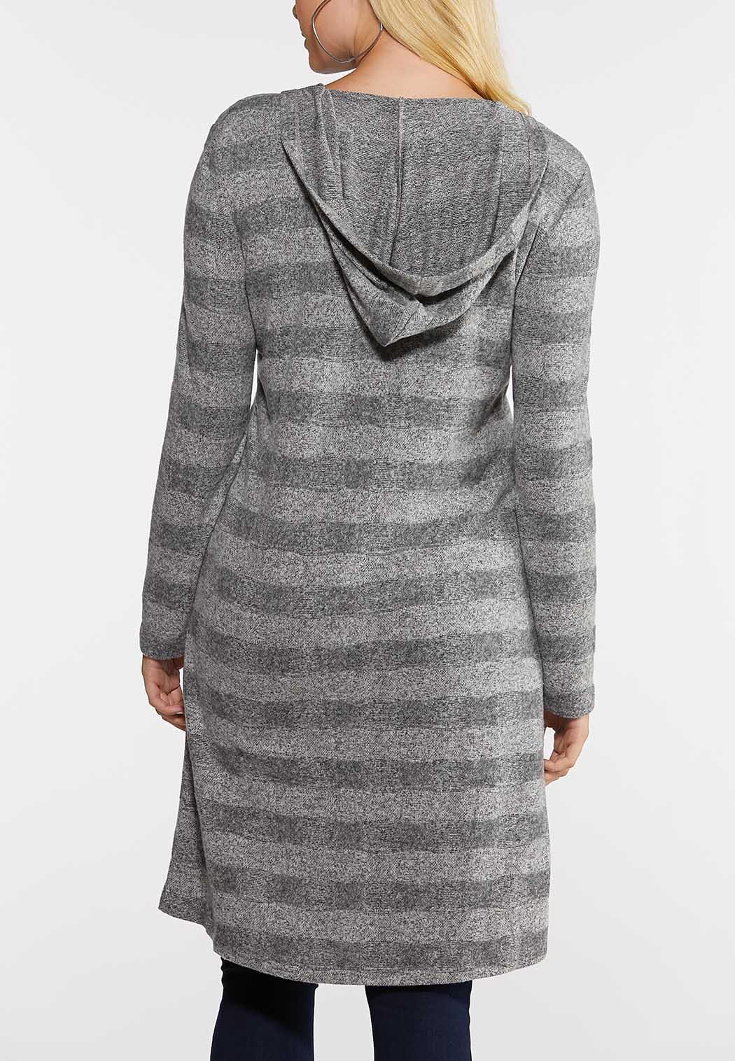 Gray Stripe Cardigan Sweater (Item #44028119)