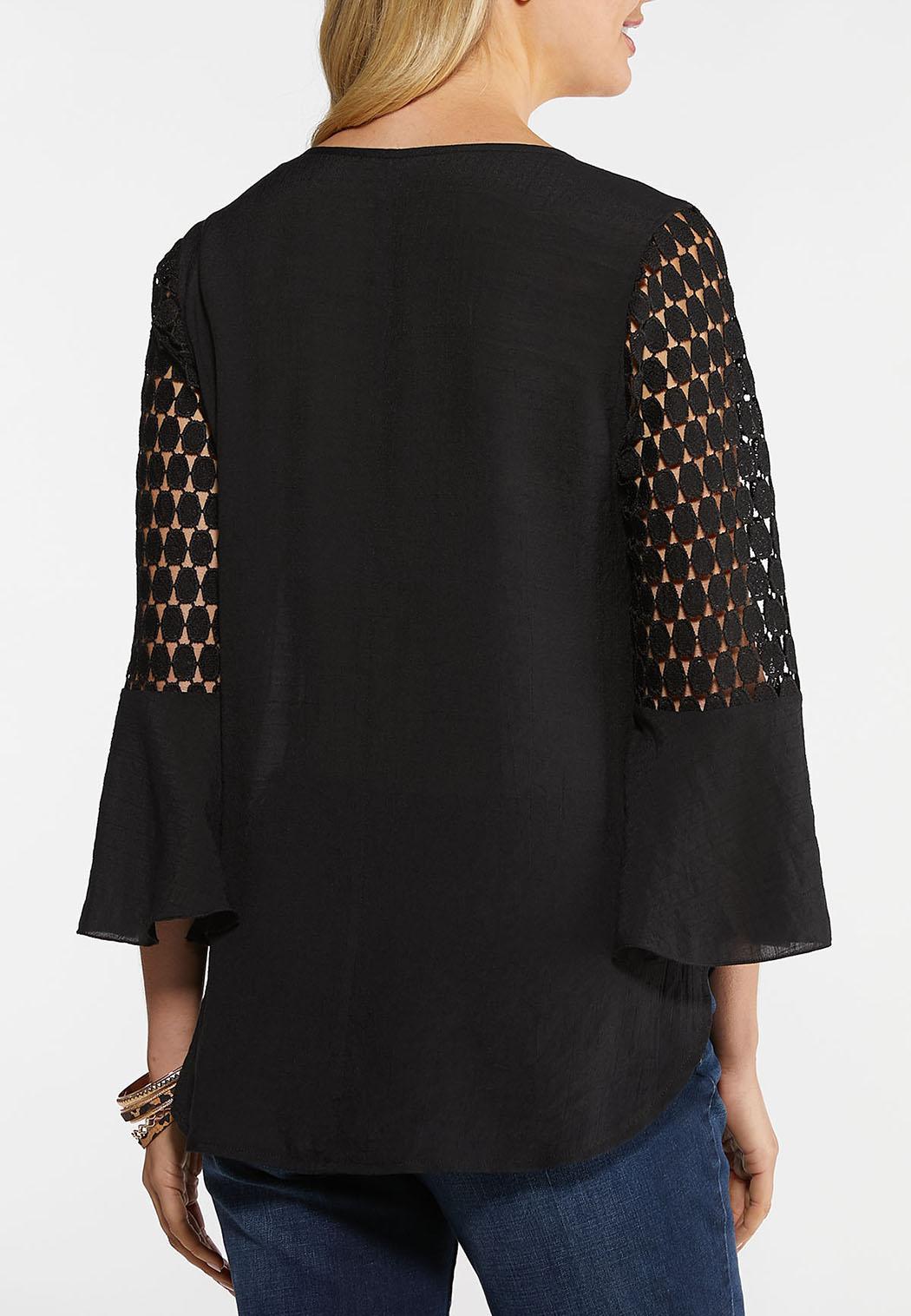 Crochet Bell Sleeve Top (Item #44028717)