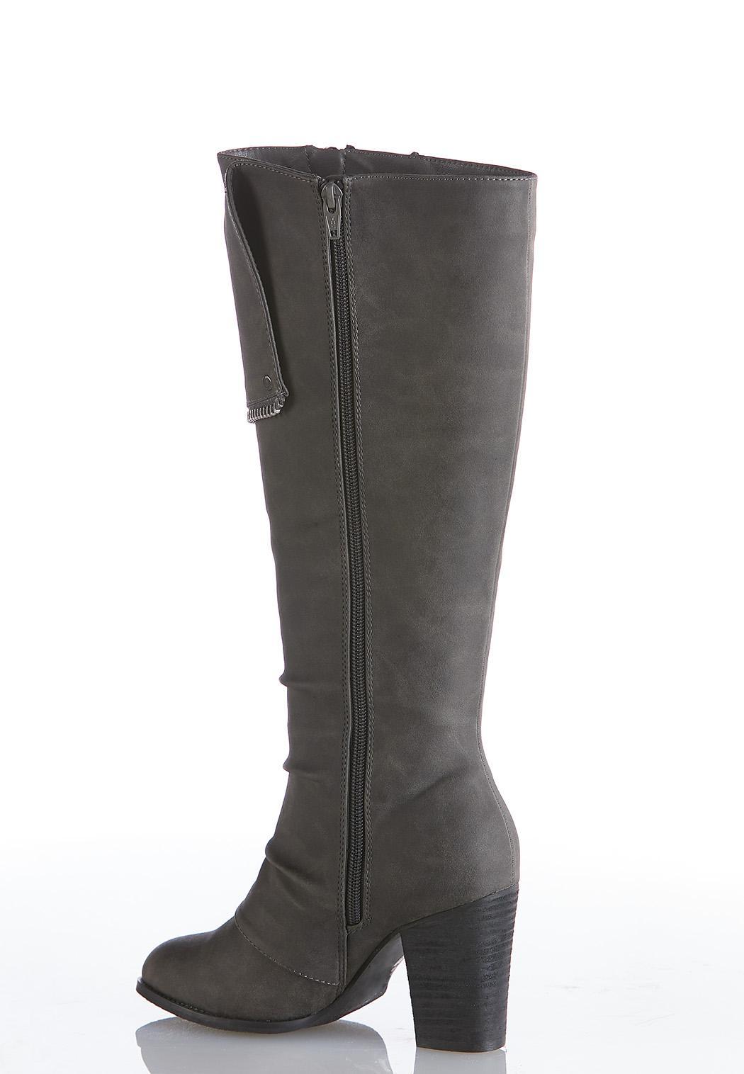 Zipper Detail Tall Boots (Item #44029184)