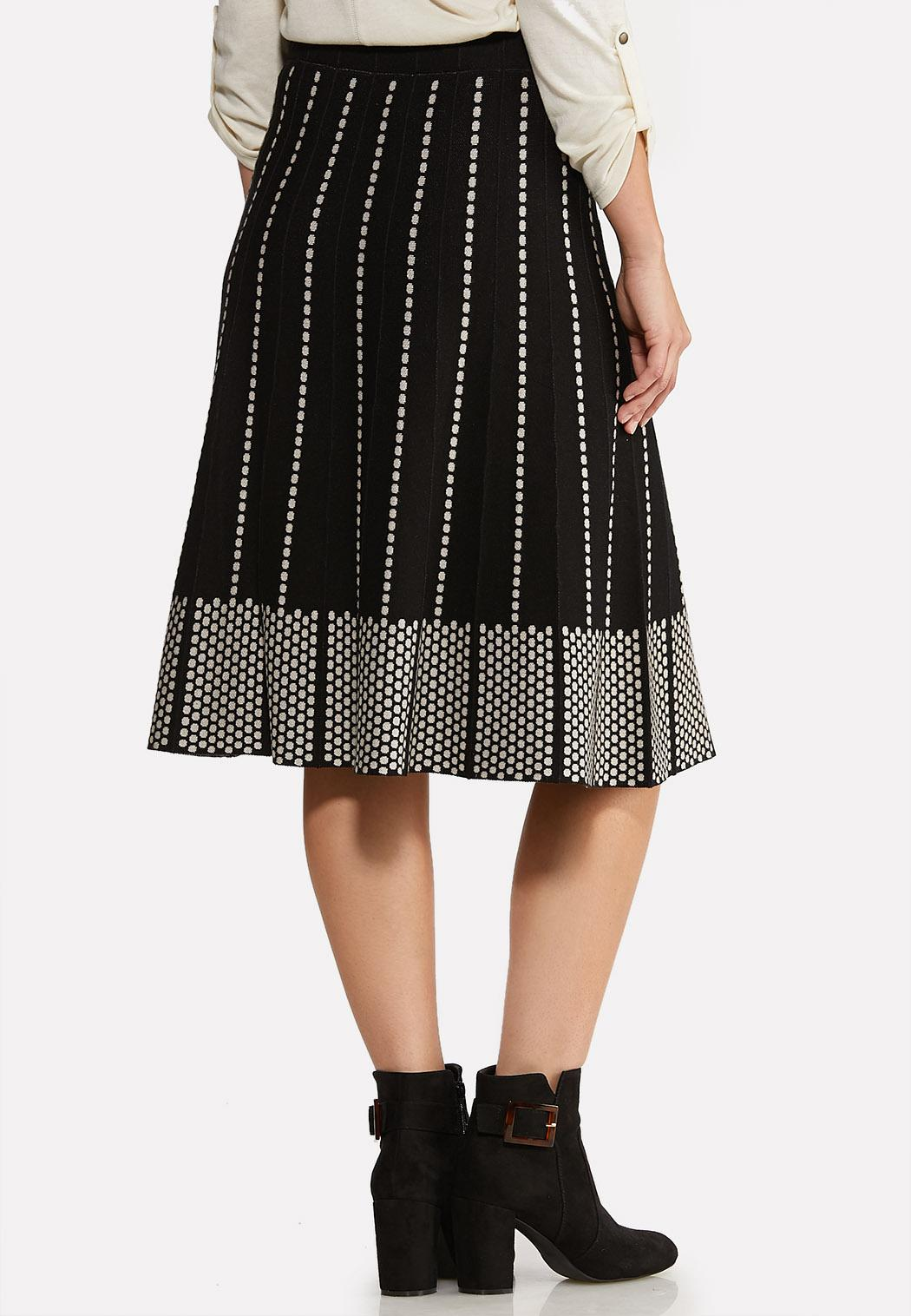 Dotted A-line Sweater Skirt (Item #44030775)