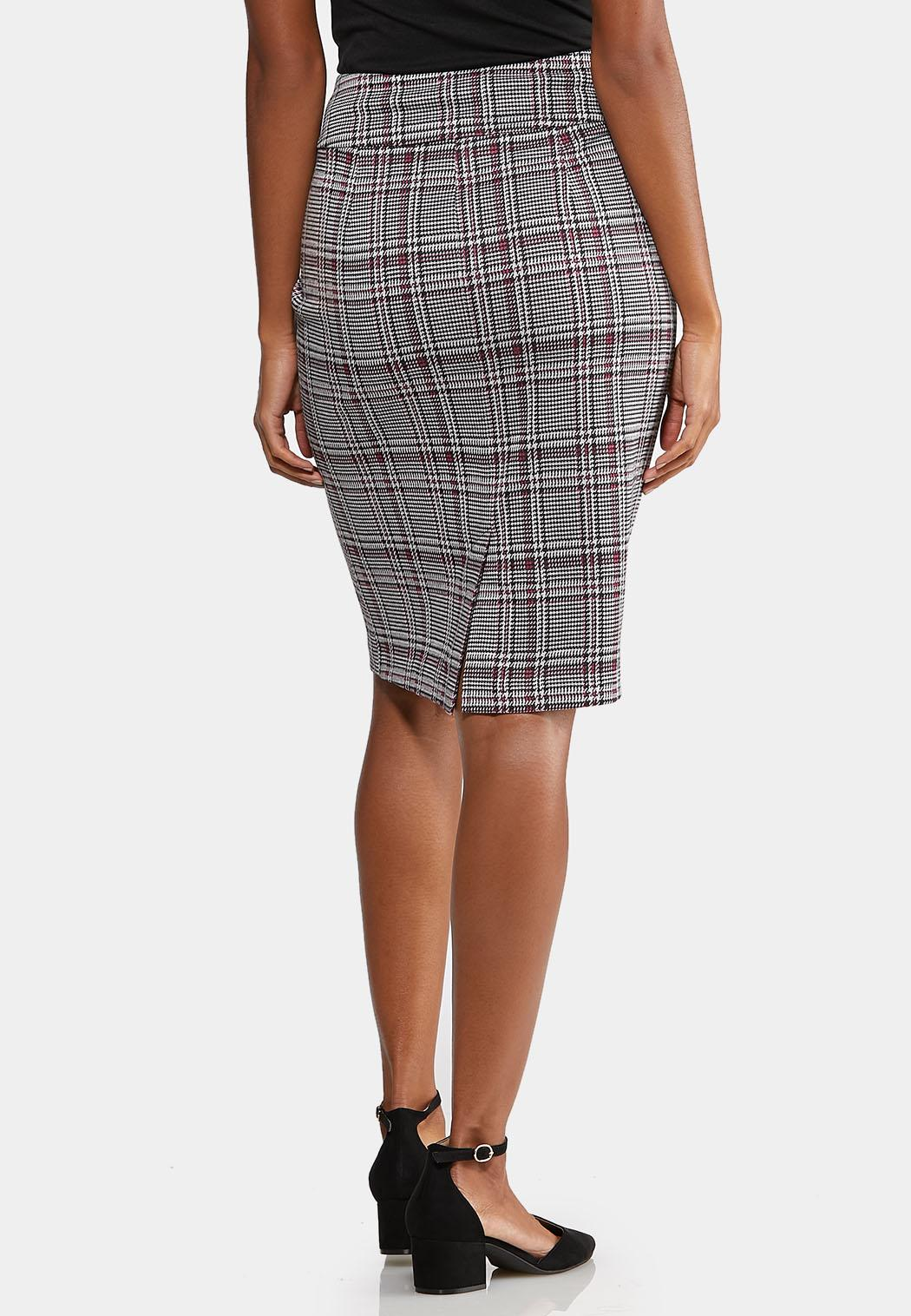 Plus Size Ring Belted Plaid Skirt (Item #44030858)