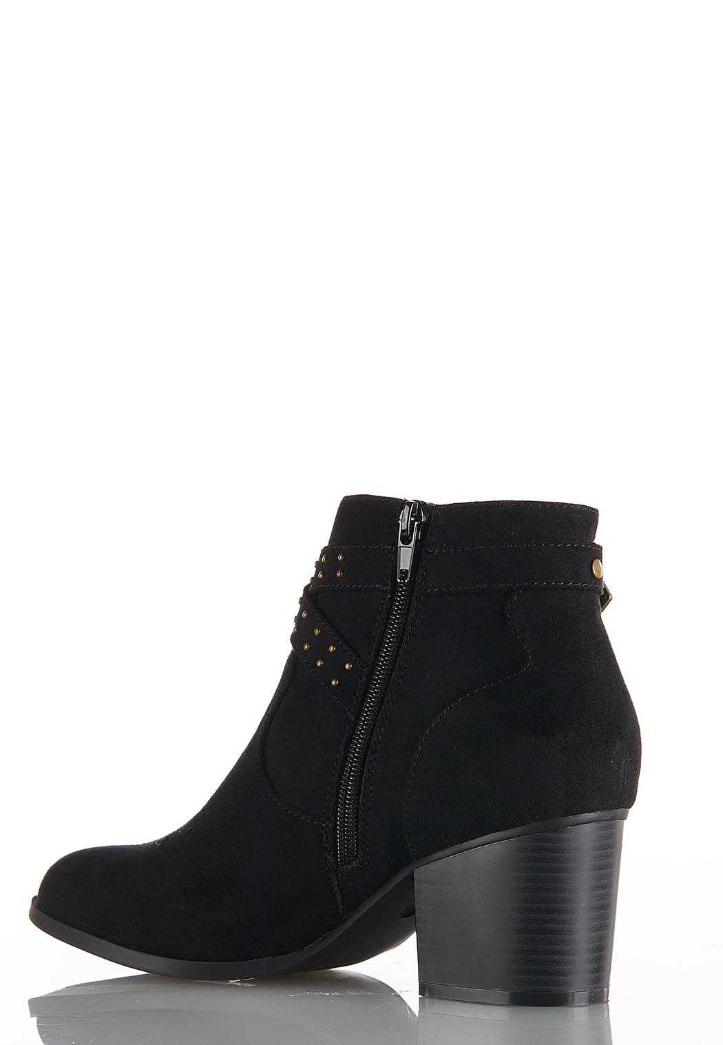Western Buckle Ankle Boots (Item #44030896)