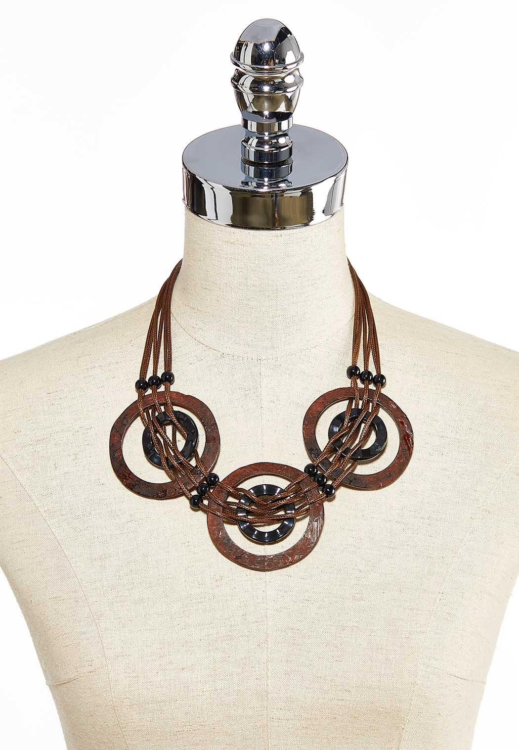 Multi Ring Corded Necklace (Item #44030951)