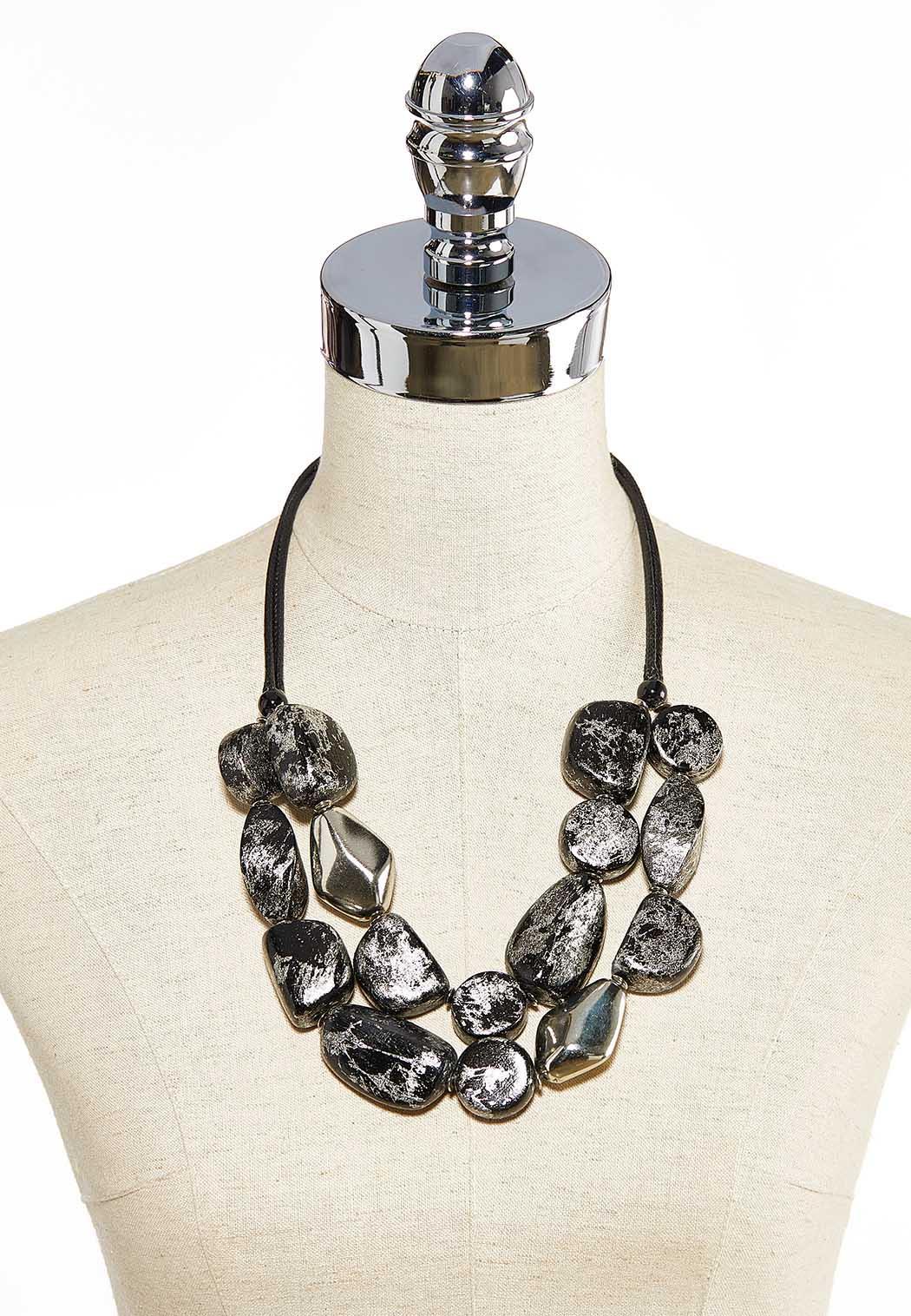 Metallic Bead Cord Necklace (Item #44031053)