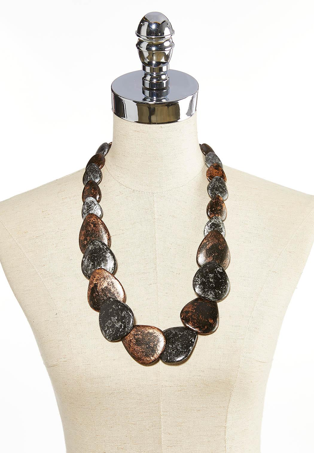 Graduated Wood Necklace (Item #44031057)