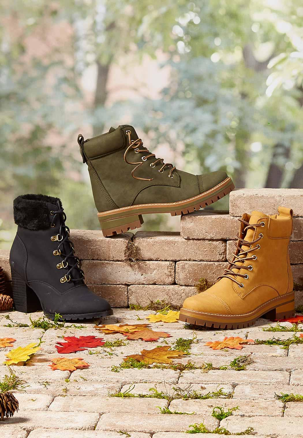 Lace Up Lug Hiker Boots (Item #44031120)