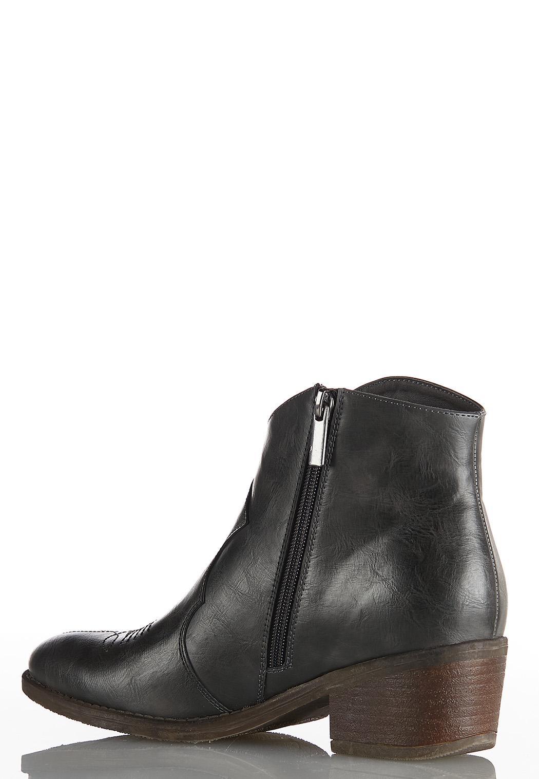 Gray Stitch Western Boots (Item #44031233)