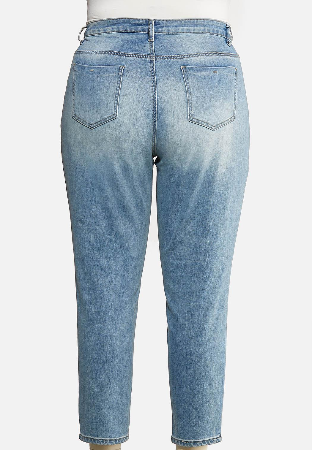 Plus Size High Rise Mom Jeans (Item #44031372)