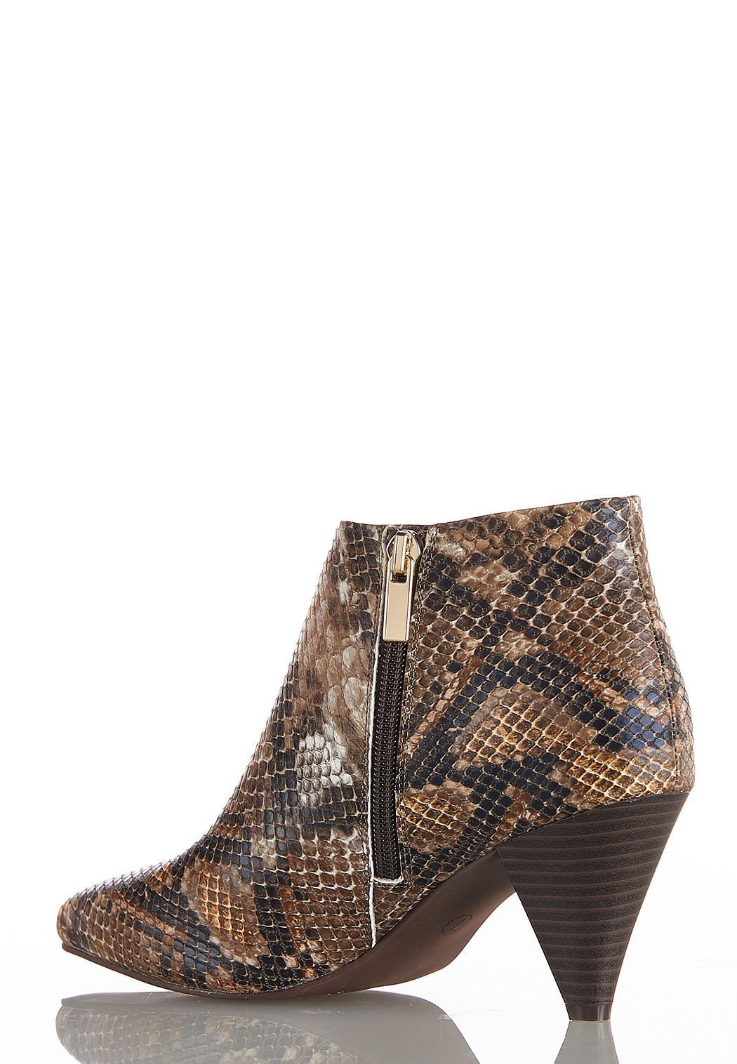 Wide Width Snake Cone Heel Booties (Item #44031413)