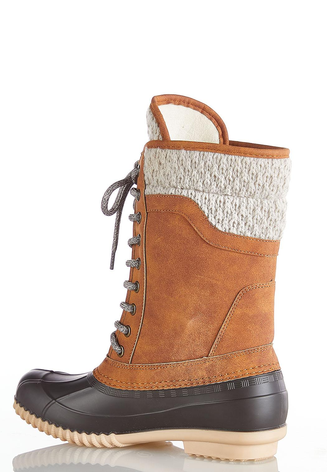 Lace Up Tall Duck Boots (Item #44031428)