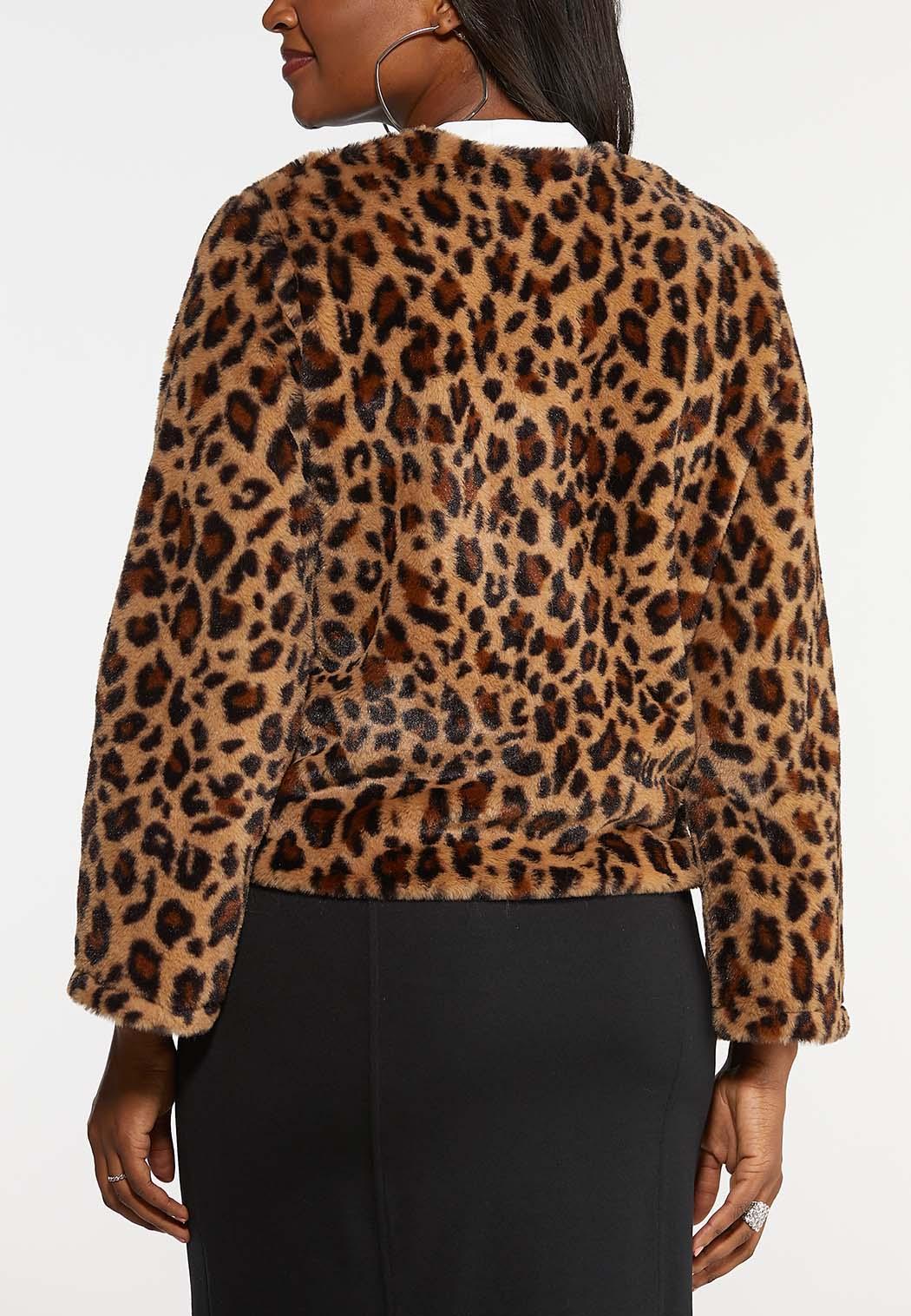 Leopard Faux Fur Jacket (Item #44031945)