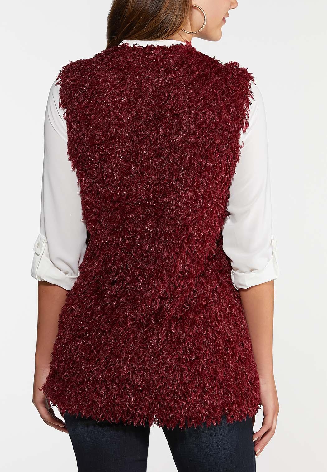 Wine Eyelash Vest (Item #44031982)